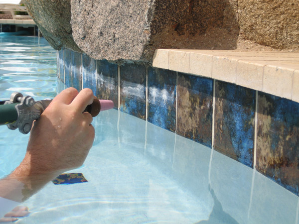 Scottsdale pool tile cleaning